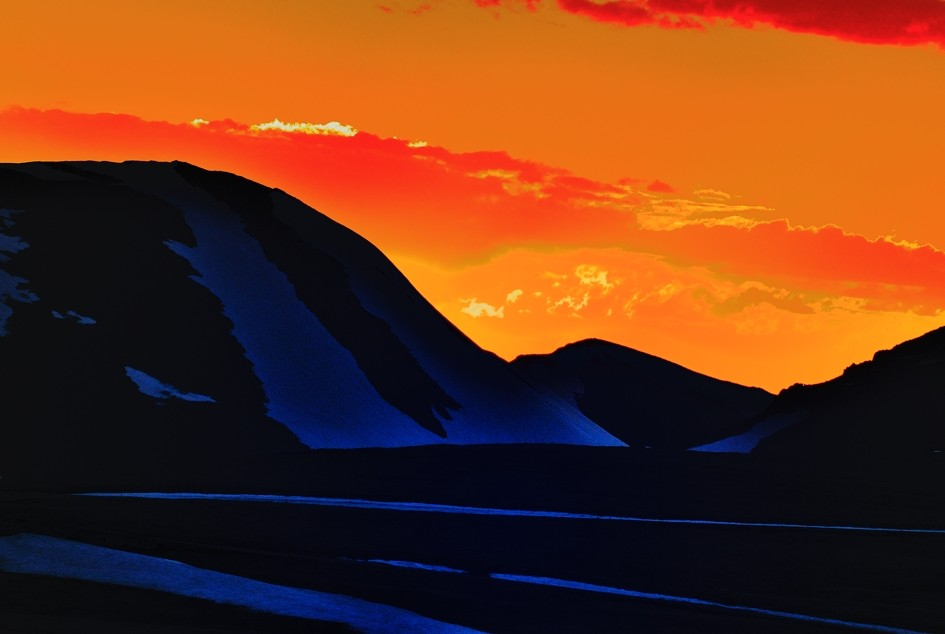 Fire and Ice Rocky Mountain National Park Sunset Image