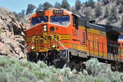 Heavy Metal BNSF Locomotive