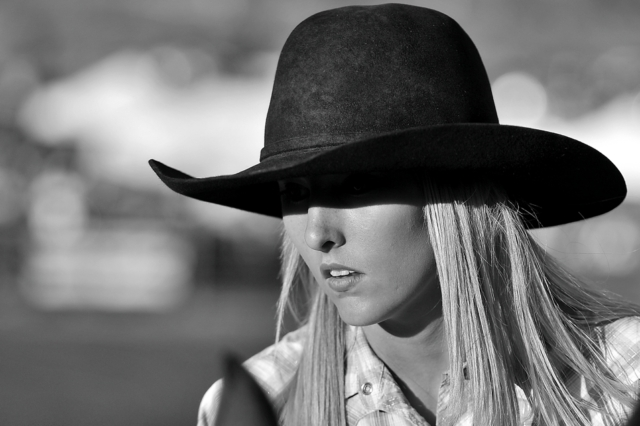Mysterious American Cowgirl