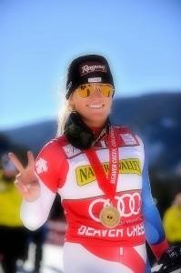 The Ethereal Lara Gut Inaugural Downhill Raptor Champion 2013 Audi FIS Ski Beaver Creek World Cup
