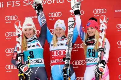 Women's Giant Slalom Podium 2013 FIS Beaver Creek World Cup