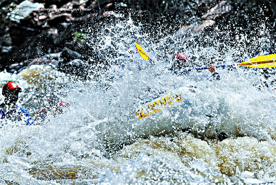 Colorado Rocky Mountain WhiteWater Splash Image