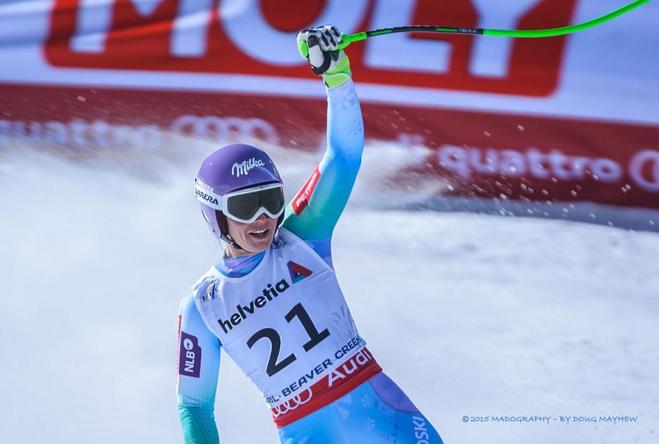 Tina Maze 2015 FIS Alpine World Ski Championships Downhill Gold Medalist Image