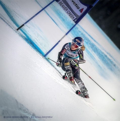 Mikaela Shiffrin Team USA 2nd Place Finish at 2013 FIS Beaver Creek World Cup Giant Slalom by photographer Doug Mayhew | Madographer