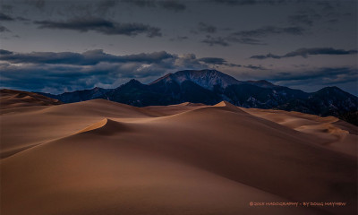 Great Sand Dunes Fleeting Sunset Glow by photographer Doug Mayhew | Madographer