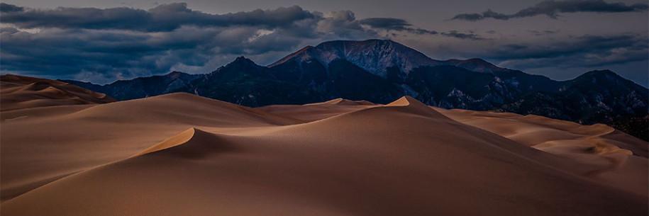 Great Sand Dunes Fleeting Sunset Glow by photographer Doug Mayhew | Madographer