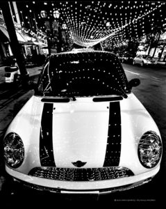 Mini Cooper City Lights Denver Colorado - MADOGRAPHY by Doug Mayhew | Madographer