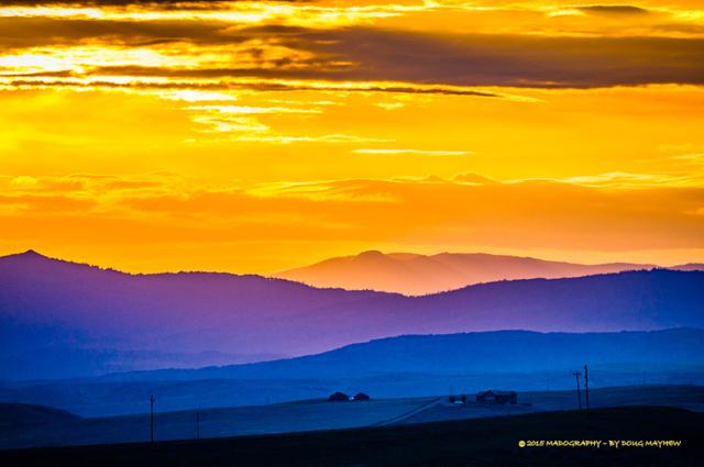 Brilliant Western Sunrise Craig Colorado - STUDIO MADOGRAPHY by Doug Mayhew   Madographer